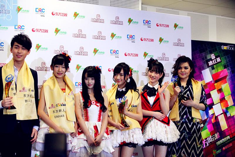 SNH48 won the Oriental Billboard Newcomer Award!